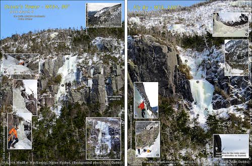 Panther Gorge-Two New Ice Climbs on Mt. Haystack-2016 March 5
