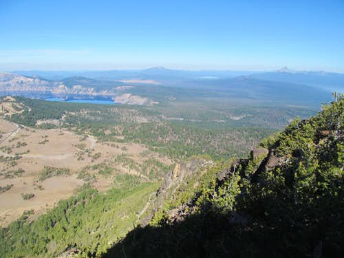east rim of lake & Thielsen
