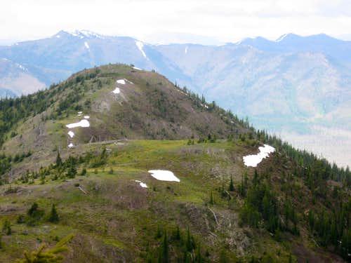 Western part of the summit ridge