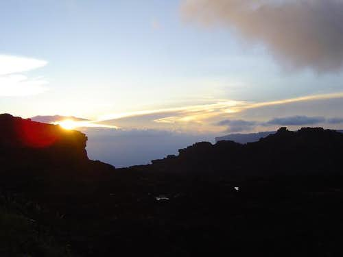 Sunset on top of Roraima.