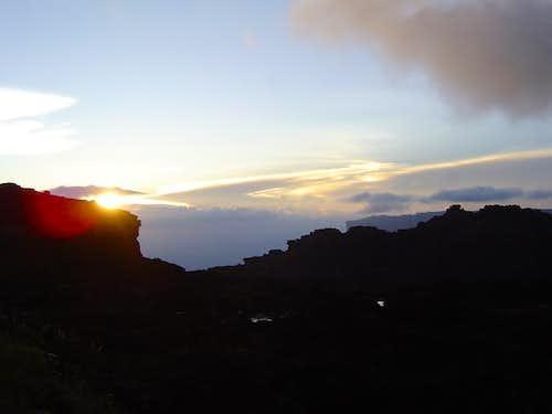 Sunset on top of Roraima....