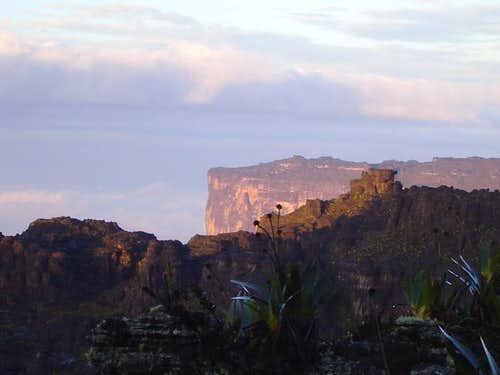 Roraima and Kukenan from the...