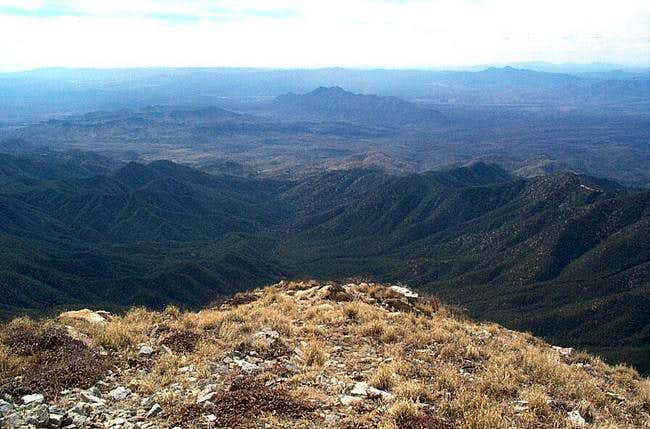 VIew from the summit of Mt....