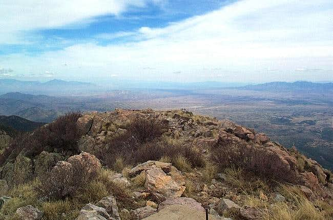 View form summit of Mt....