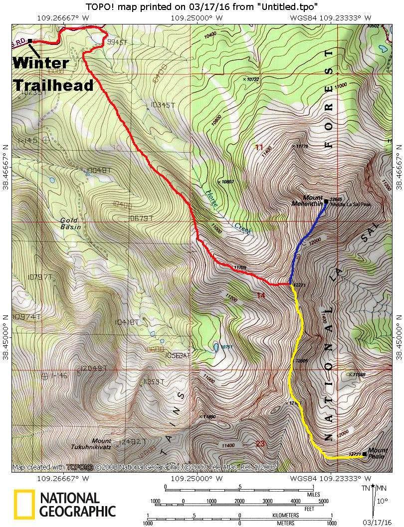 Gold Basin Ridge Route