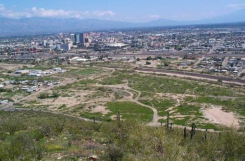 Downtown Tucson from Sentinel...