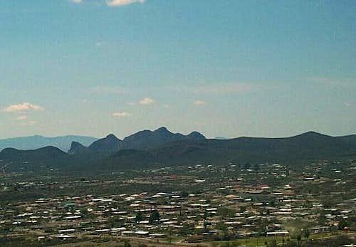 Sentinel Peak looking west to...
