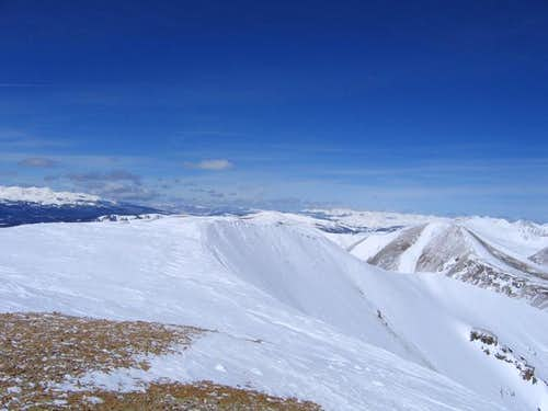 The long summit ridge of...