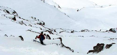 East Face Ski Descent