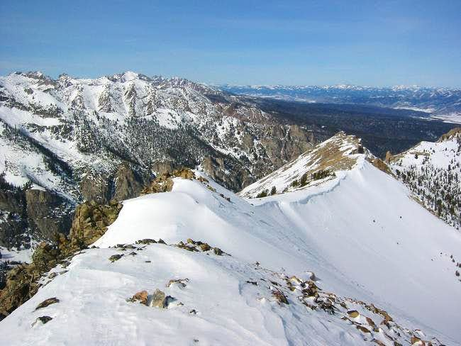 The North Ridge from the...