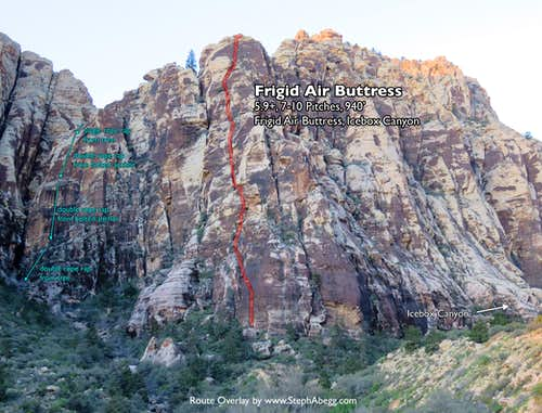 Route Overlay Frigid Air Buttress