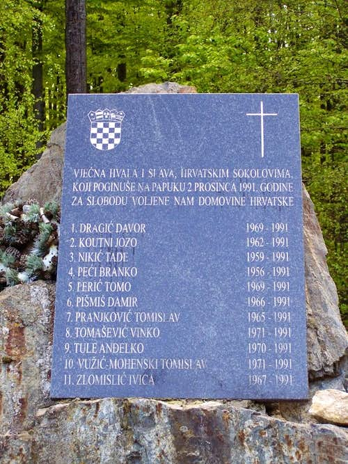 Memorial on Nevoljas Pass