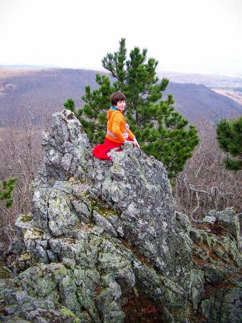 Scrambling on Tauberove stijene