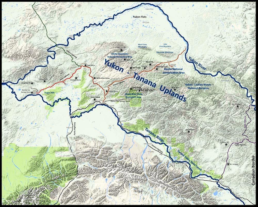Yukon-Tanana Uplands Map  Photos Diagrams U0026 Topos  SummitPost