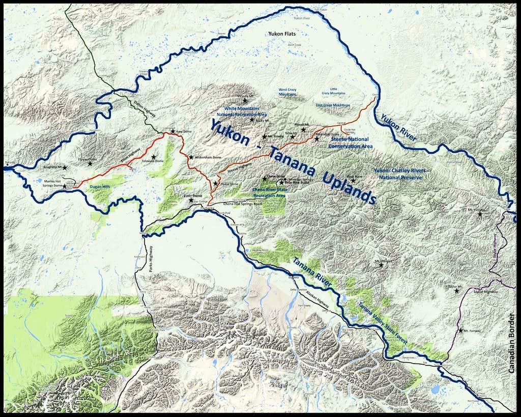 Yukon-Tanana Uplands Map