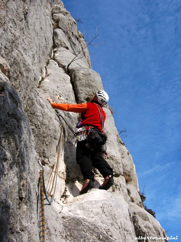 Superb limestone on Croz dei Pini