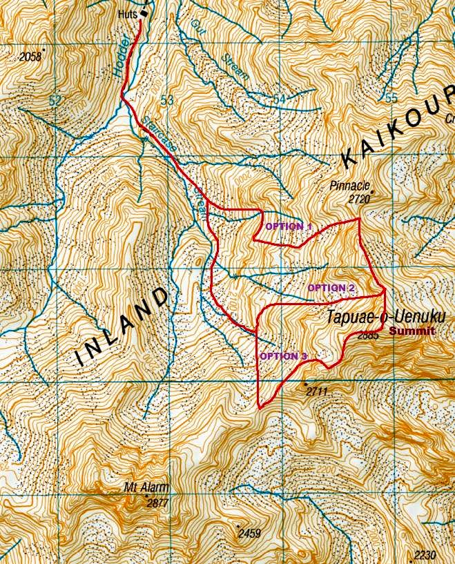 Summit Route Map