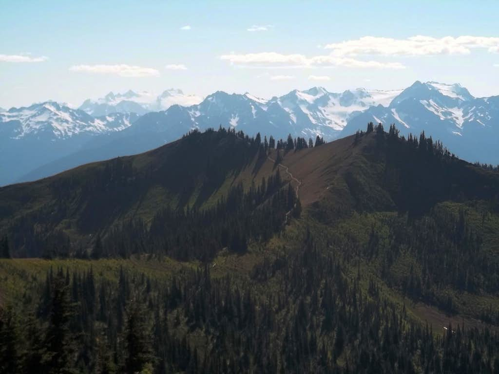 Looking back at Sunrise Point and Alpine Hill