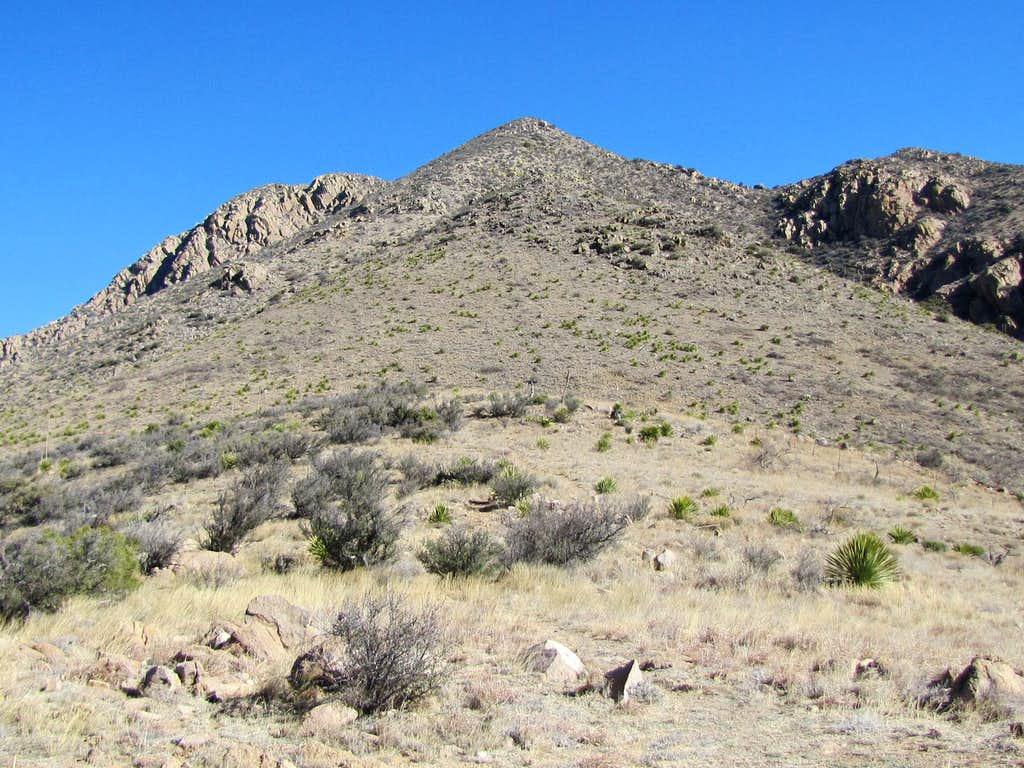 Baylor Peak on the left