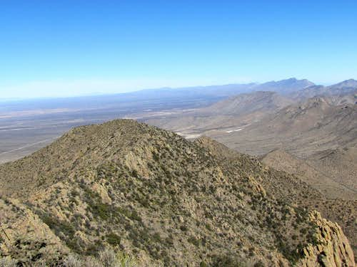 San Andres Mountains and Baylor's subpeaks