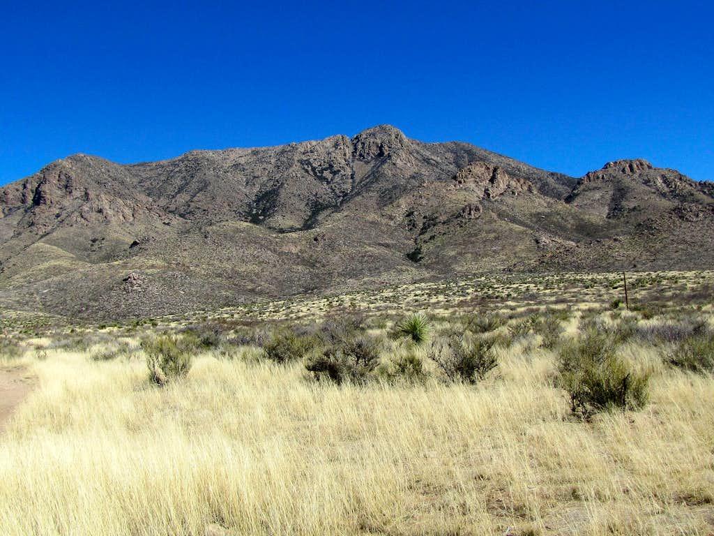 West face of Baylor Peak
