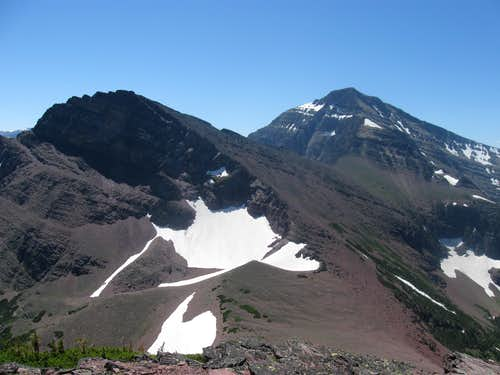 Amphitheater Mountain and Mount James