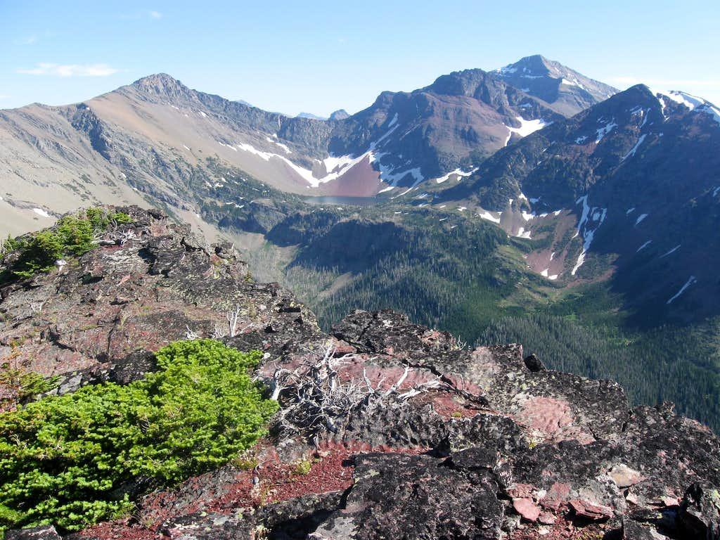 Peak 8625, Amphitheater Mountain, Mount James & Medicine Owl Peak Encircling the Medicine Owl Drainage