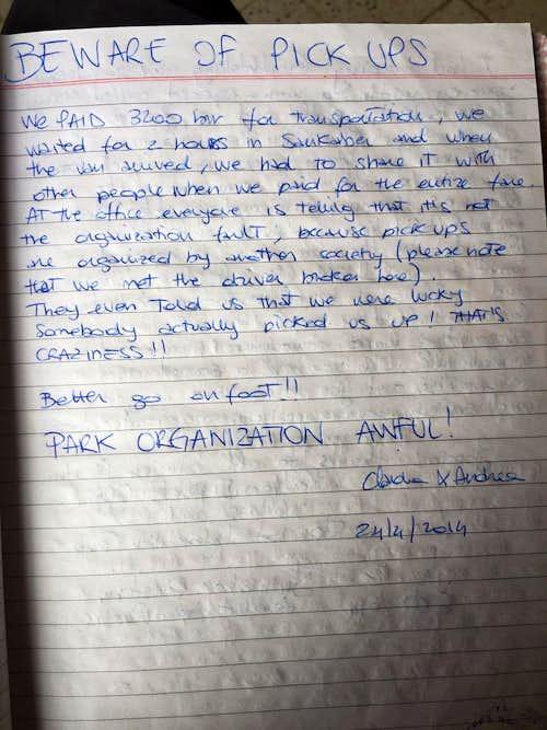 Simien Mountain National Park complaint