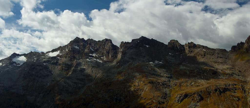 Pizzo del Muretto (3104m), Piz Fedoz (3190m)