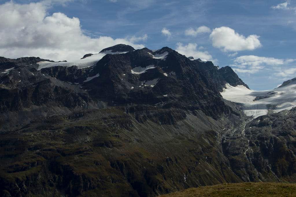 Piz del Lej Alv (3197m), Il Capütschin (3386m), La Muongia (3415m)