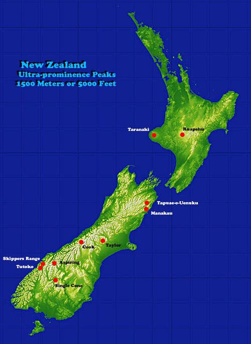 New Zealand Ultras Map