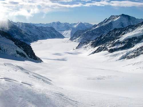 Aletchglacier from Jungfraujoch