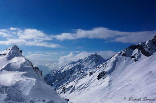 Wasenspitze (2665m) and Flexenspitze (2627m)