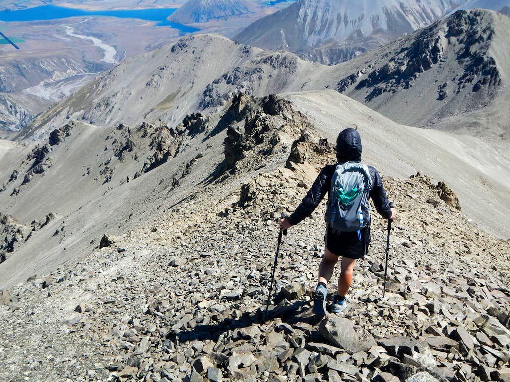 Descending The West Ridge