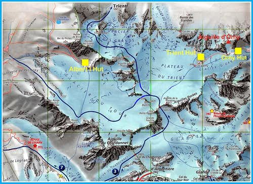 Aiguille d Orny map