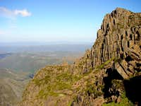 Climbing up Cradle Mountain...