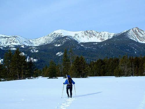 Me snowshoeing towards...