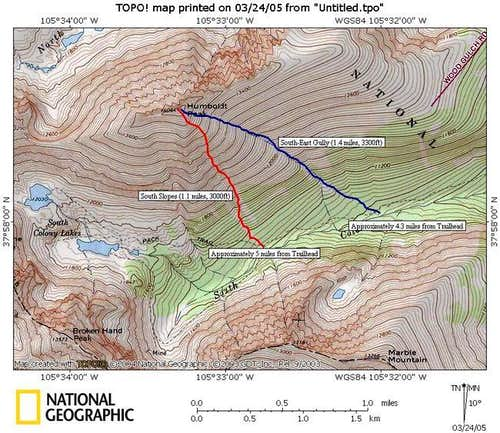 TOPO map for the South Slopes...