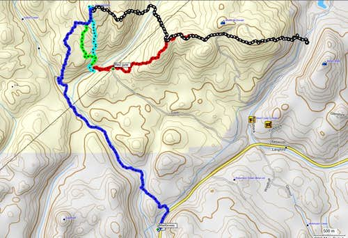 McDonald to Braden Traverse Routes