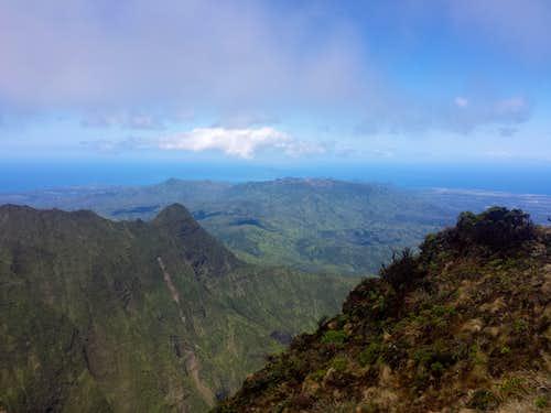 NE view from Kawaikini
