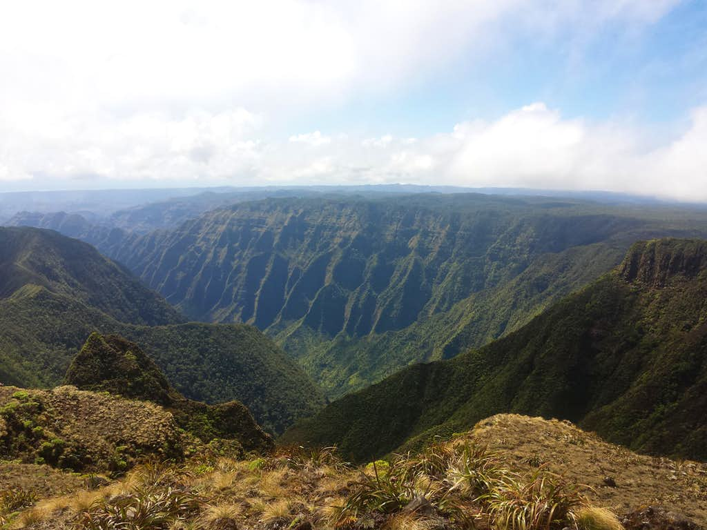 Olokele Canyon from Kawaikini