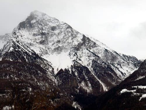 Becca di Nona North Face above the rocky Morion 2016