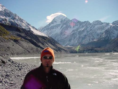 Mount Cook and the lower...