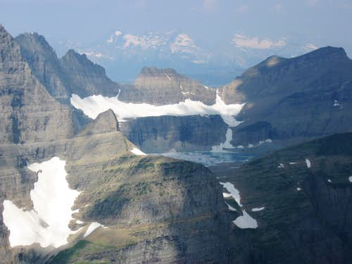 Grinnell Glacier Area With the Livingston Range in the Background