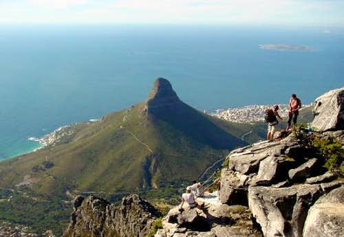 Looking off over Cape Town...