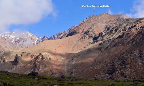 Cerro San Bernardo climb