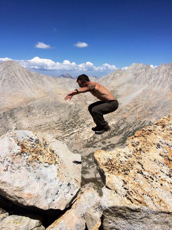 Mt. Julius Caesar Summit jump