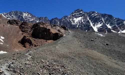 Cerro Vallecitos 5461m and Cerro Rincon 5364m