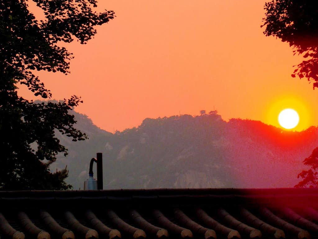 Hazy Sunset in Seoul