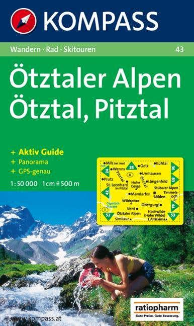 Kompass Map no. 43 Otztaler Alpen